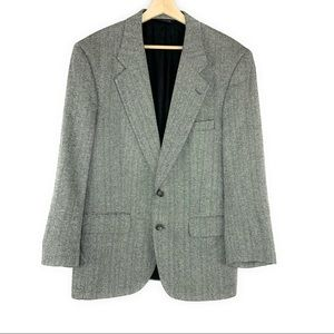 Vintage Burberry Silk 2 Button Blazer Grey